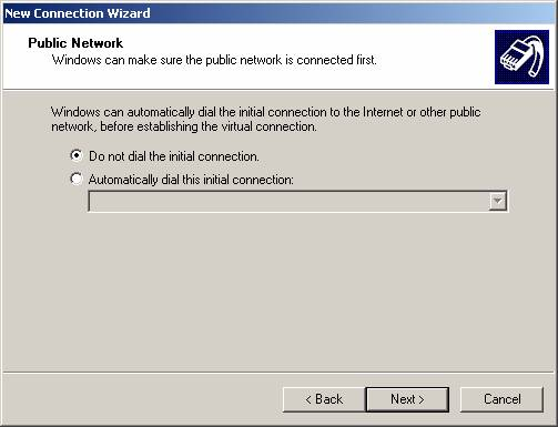 Click Virtual Private Network connection, and then click Next.