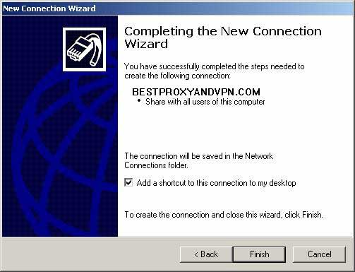 You are just about done, the rest of the screens just verify your connection, click Next.